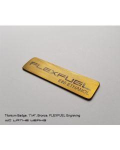 1inch x 4inch Badge - Titanium