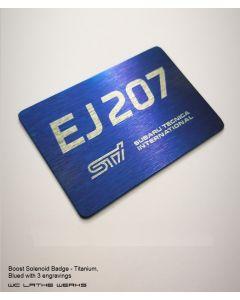 Boost Solenoid Badge - Titanium
