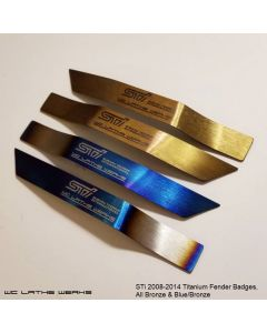 Subaru Titanium Fender Badge: 2008-2014 WRX STi (pair)