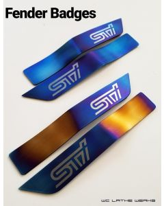 Subaru Titanium Fender Badge: 2015+ WRX STi (pair)