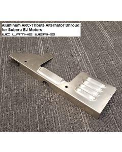 ARC-Tribute alternator shroud. Rough sample made from aluminum