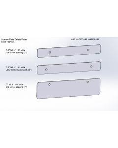 Subaru Titanium License Plate Delete
