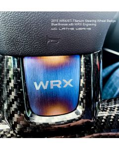 Subaru Titanium Steering Wheel Badge: 2015+ WRX STi