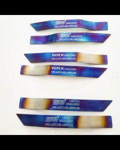 Subaru Titanium Fender Badge: 2008-2014 WRX STi (pair)