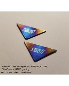 Subaru Titanium Dash Triangles: 2015+ WRX/STi
