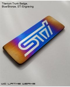 Trunk Badge - Titanium